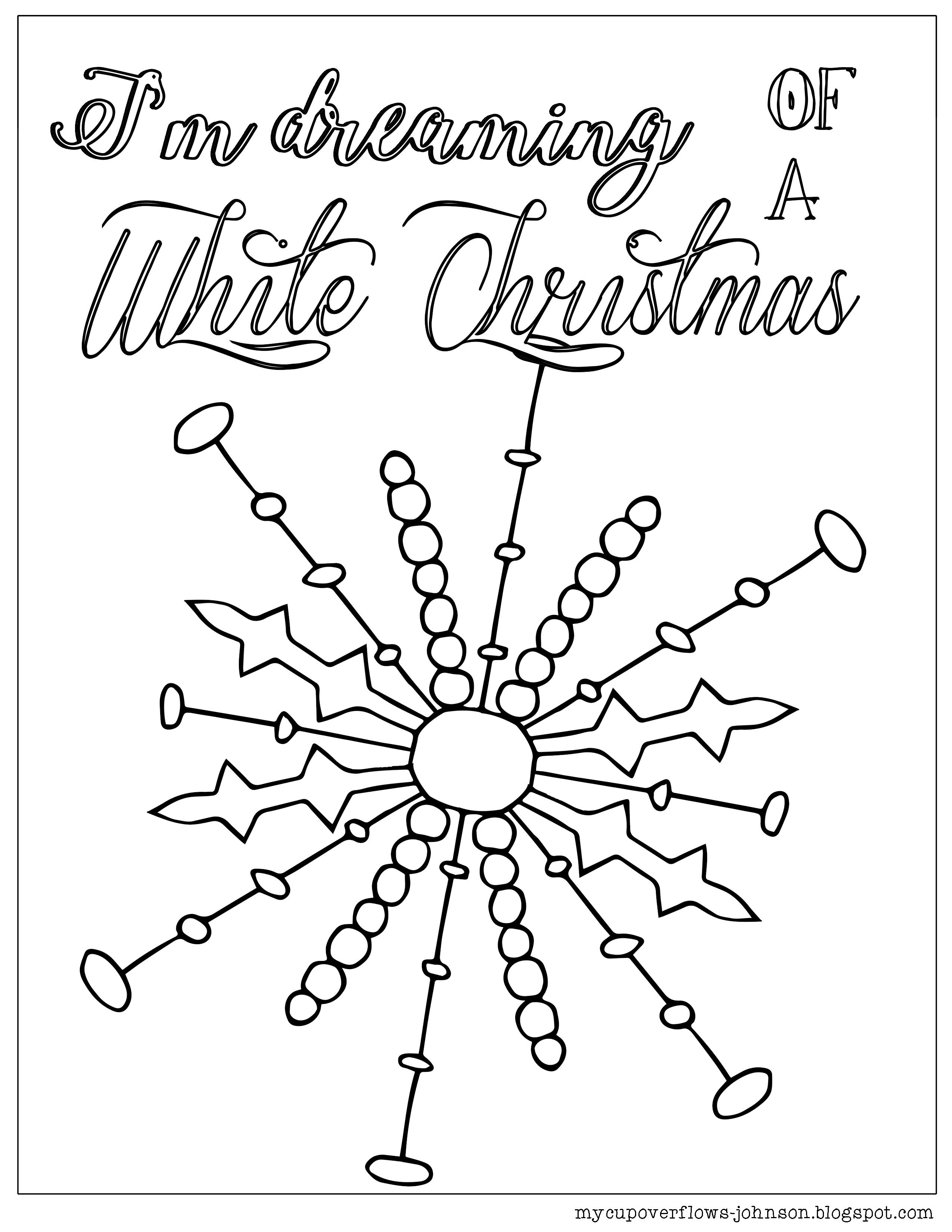 I\'m dreaming of a white Christmas snowflake coloring page | Bible ...