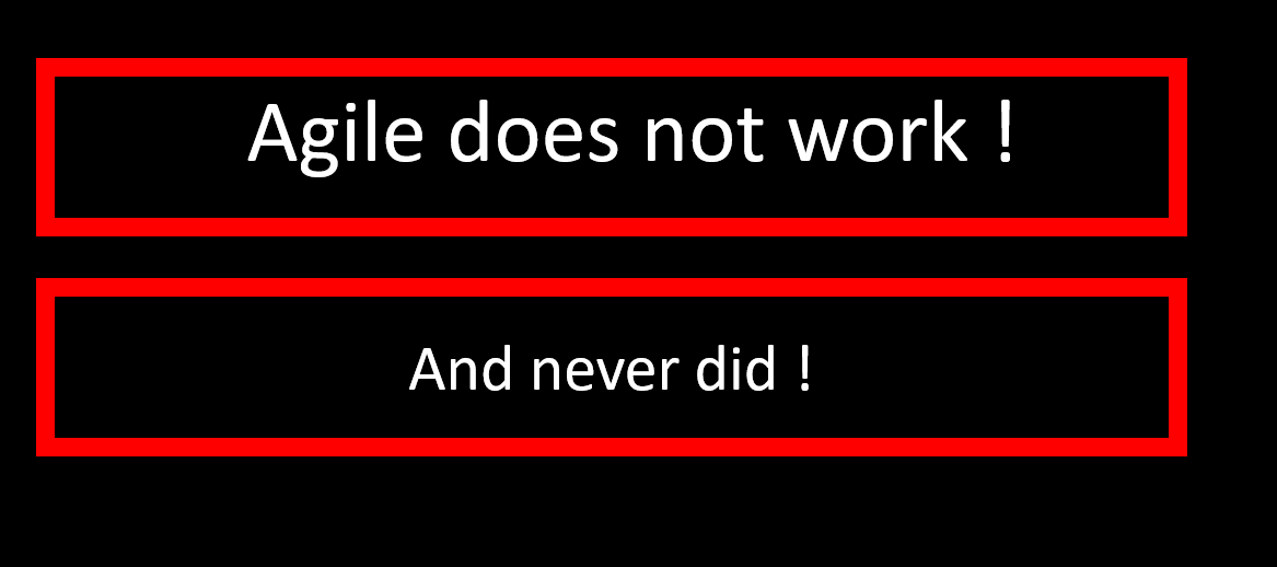 (2) Agile does NOT work !   LinkedIn