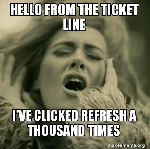 Here Are The Best Reaction Memes To Buying Adele Tickets Adele