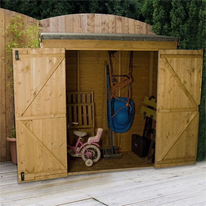6 x 26 value overlap modular pent storage shed