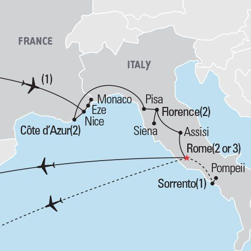 Cote dAzur Florence Rome Visit the extravagant resort towns