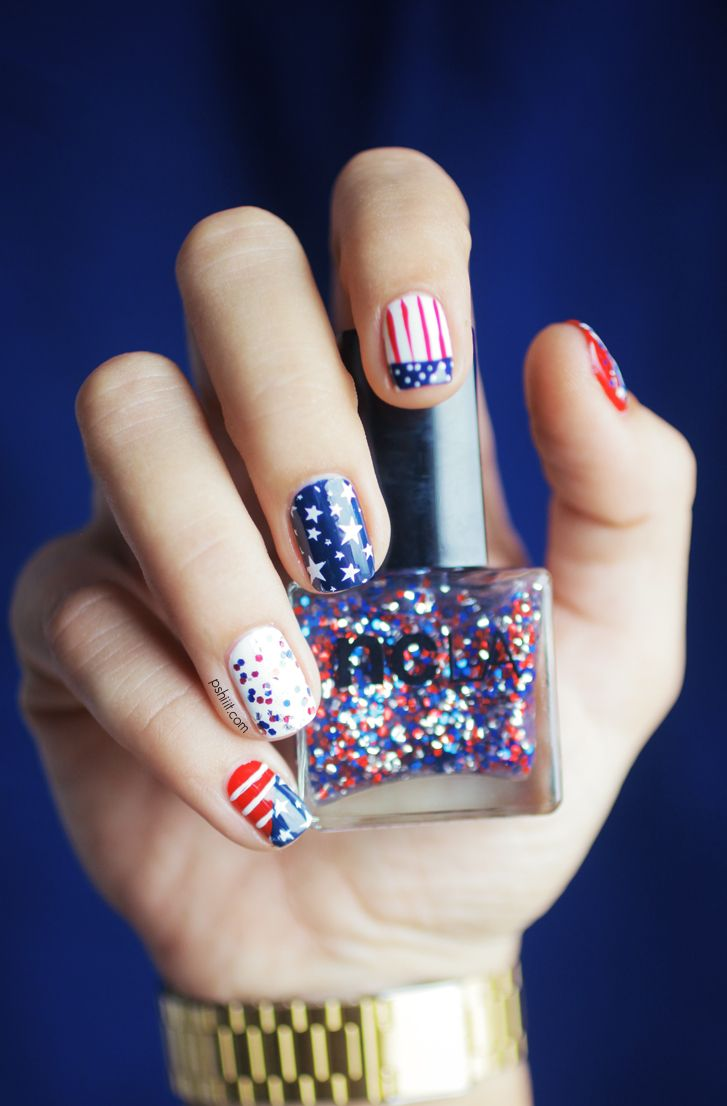 red white and blue nail designs for the th of july mani pedi