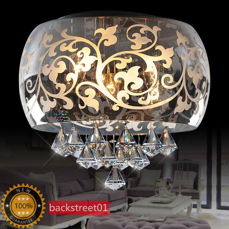 Modern Glass Carved K9 Crystal Chandelier Ceiling Light Pendant Lamp Lighting in Home & Garden, Lamps, Lighting & Ceiling Fans, Chandeliers & Ceiling Fixtures   eBay