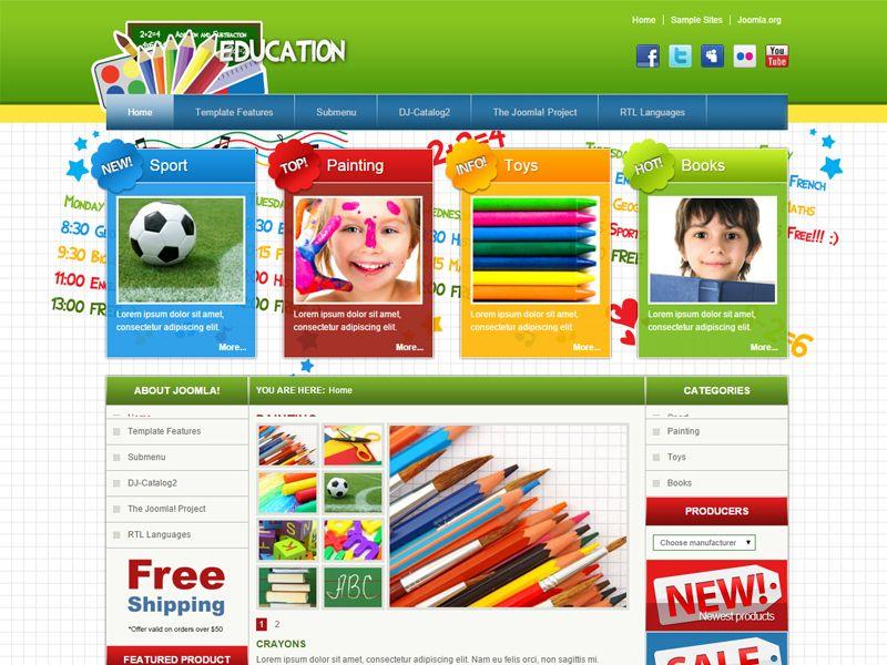 JM School Free Joomla Primary Schools Template