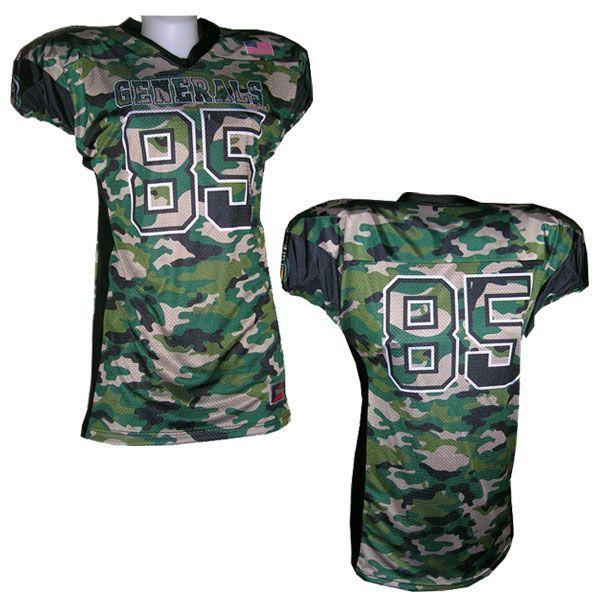 camo football jerseys
