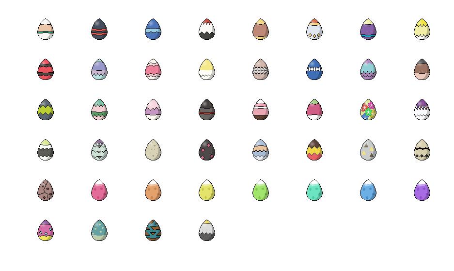 Custom Egg Sprite For Every Generation Seven Family See Comments Pokemon Sun Moon Pokemon Sun Sprite Custom