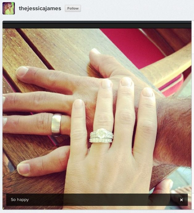 Jessica James and Eric Decker of NFL married wedding rings