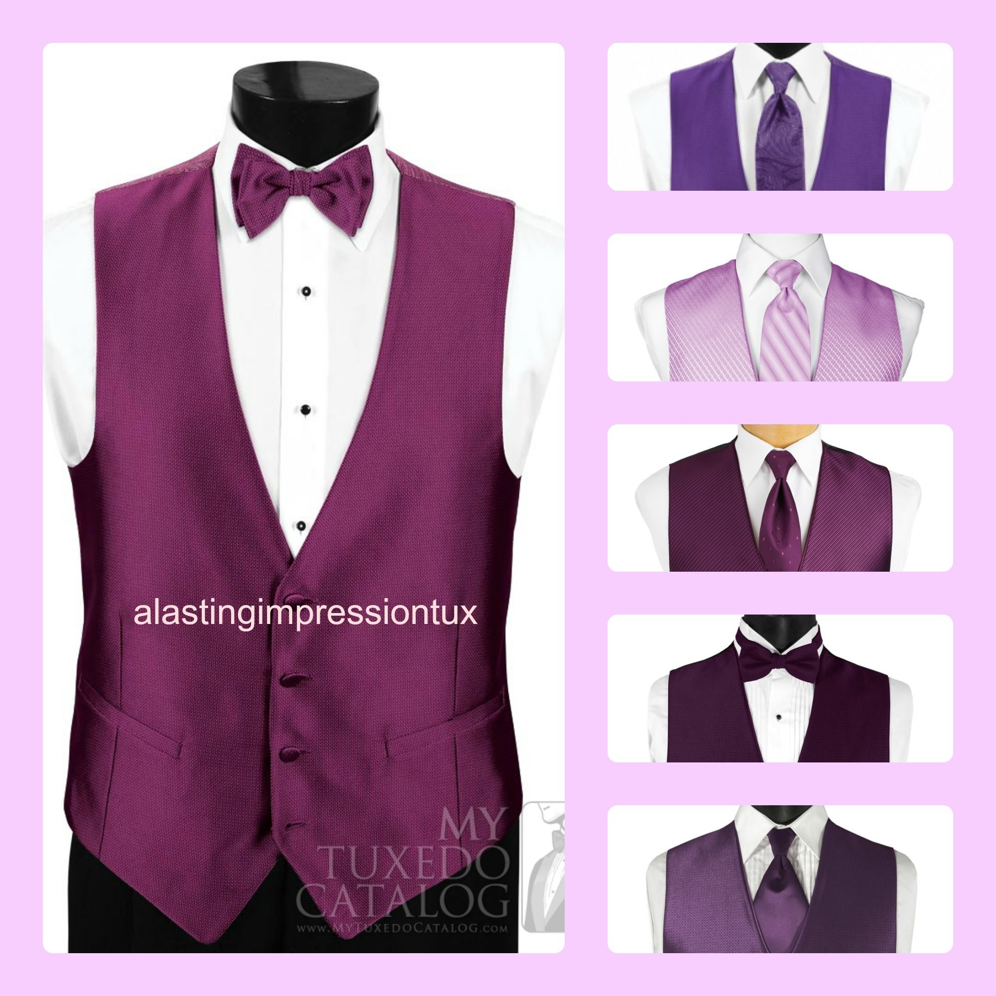 Purple vests for your groomsmen.http://www.simplyelegantforyou.com ...