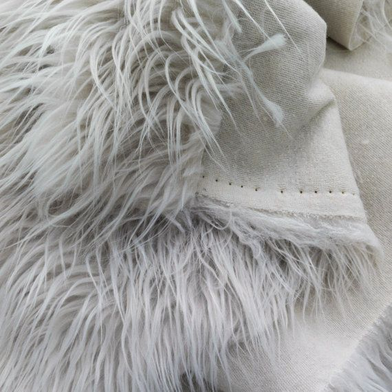 CURLY Teddy Faux Fur Fabric Material ROSE FROST