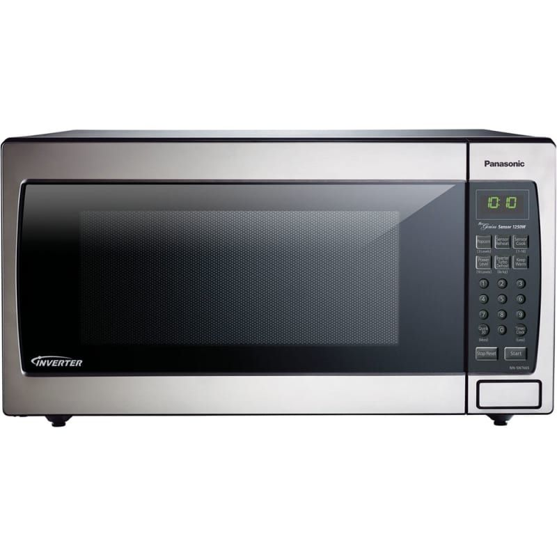 Panasonic Nn Sn766 22 Inch Wide 1 6 Cu Ft 1250 Watt Countertop Microwave With Stainle Stainless Steel Microwave Microwave Oven Countertop Microwave