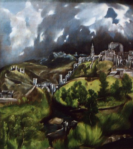 View of Toledo by El Greco in the Metropolitan Museum of Art, Feb. 2007, for more please visit http://painting-in-oil.com/artworks-El-Greco-page-1-delta-ALL.html