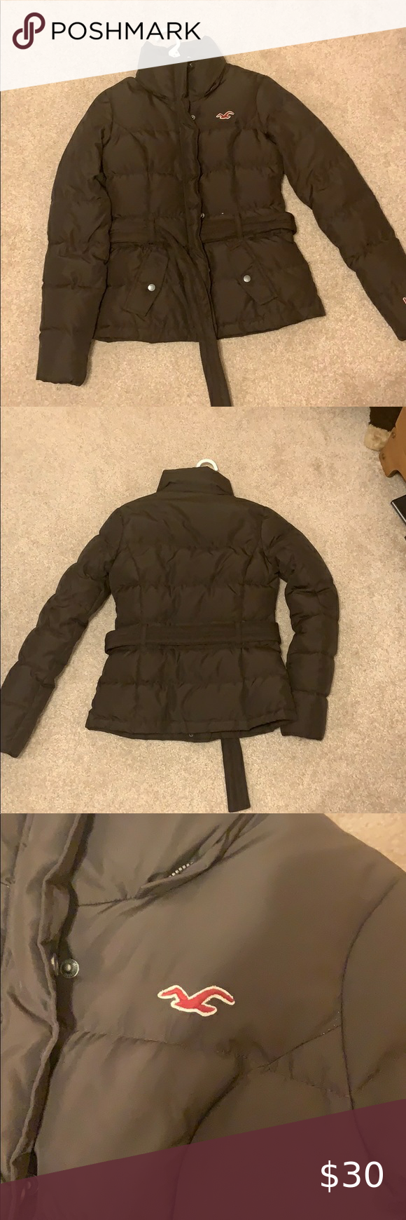 Hollister Winter Jacket Hollister Winter Jacket In Great Condition Super Cute With Belt Loops All The Way Around Holl Winter Jackets Jackets Hollister Jackets [ 1740 x 580 Pixel ]