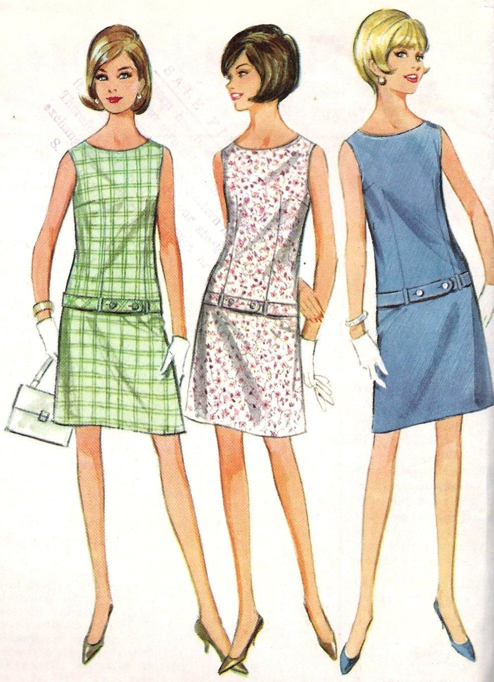 1960s Shift Dresses : 1960s, shift, dresses, McCall's, Vintage, Outfits,, Dresses,, Clothes, Patterns