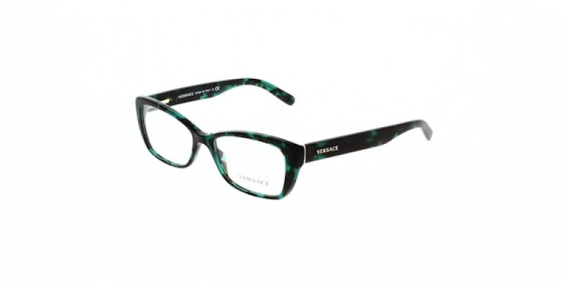 242ed8164a501 Versace Glasses VE3201 5076 52 is a green frame and is designed for women.  It