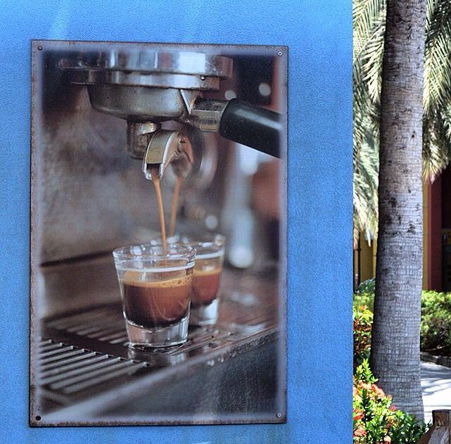 Starbucks, Enjoying Green Tea Soy Latte, Outside On The