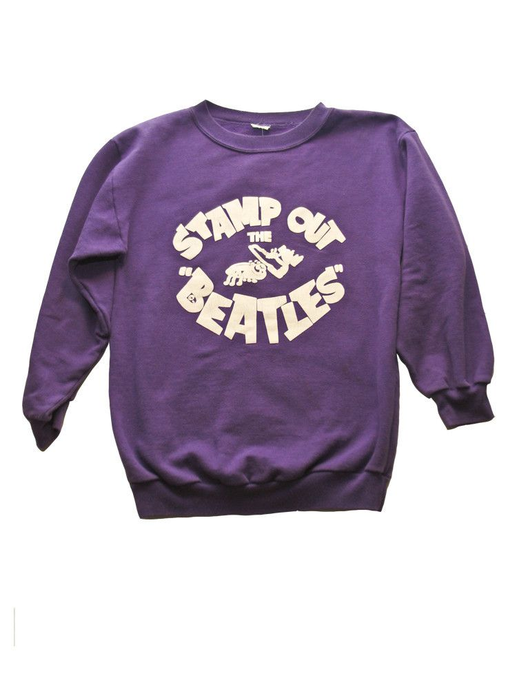 4e7afc76443 Stamp Out The Beatles Vintage Sweatshirt 1960 s