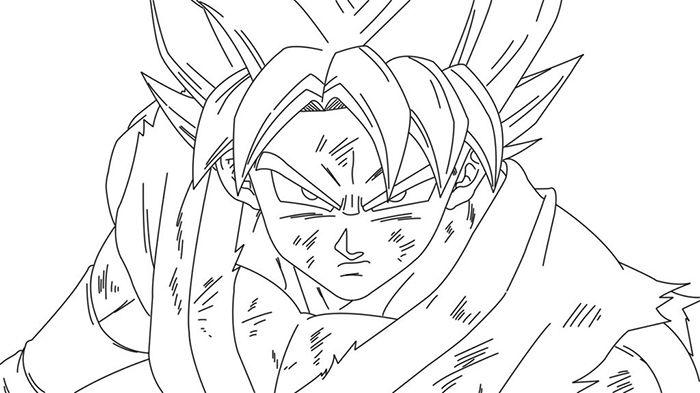 Imágenes De Goku Dios Azul Para Colorear Y Dibujar