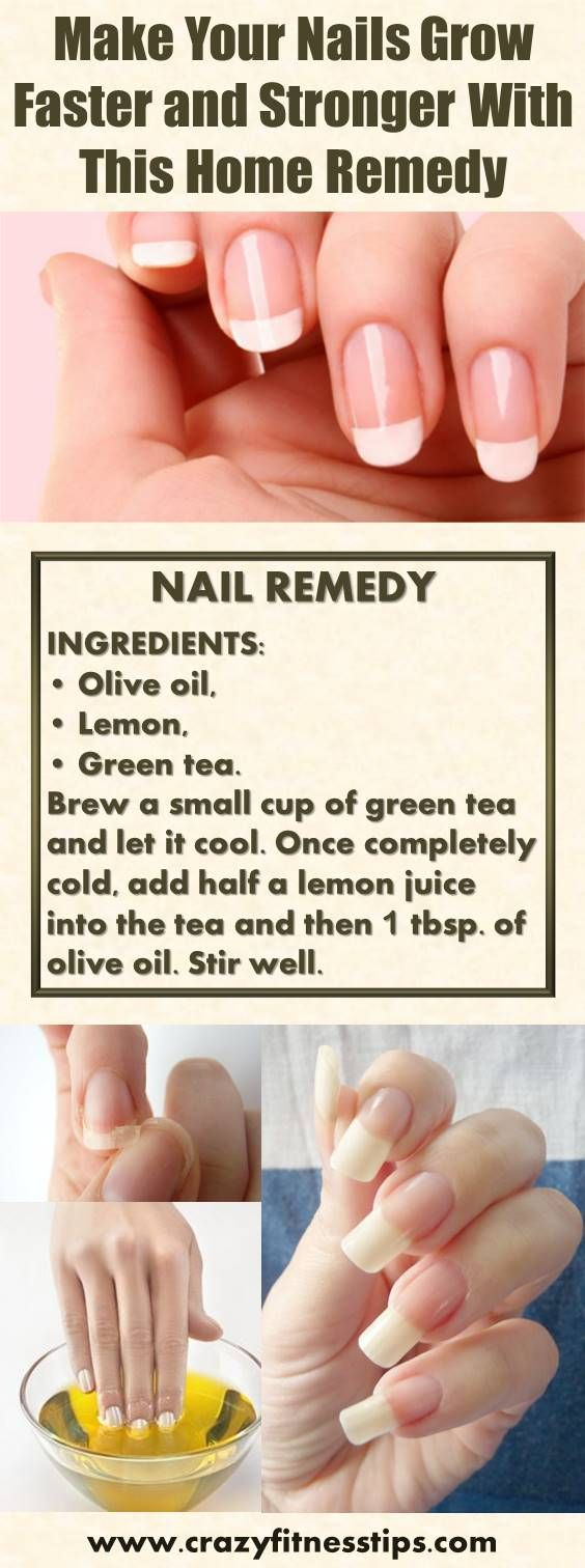 Make Your Nails Grow Faster And Stronger With This Home Remedy Grow Nails Faster Brittle Nails Treatment How To Grow Nails