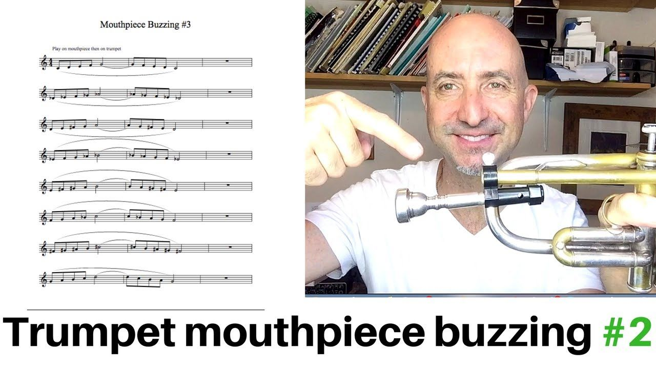 Trumpet mouthpiece buzzing ex #2 free PDF and Play Along | music