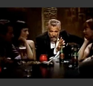 Video still of 'The Most Interesting Man in the World