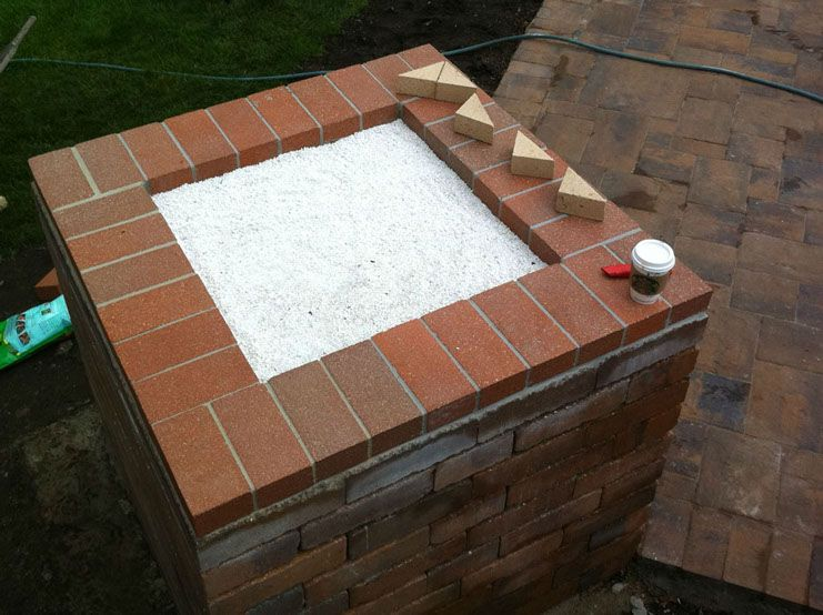 Raw Perlite Used In A Brick Pizza Oven Base By Brickwood Ovens