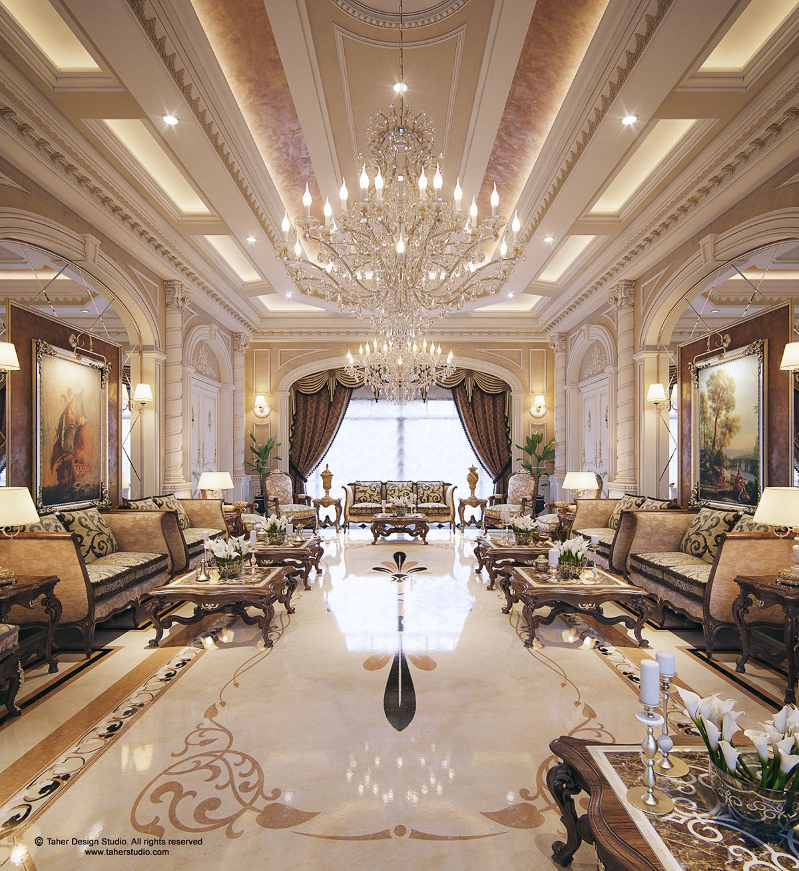 Luxury Mansion Interior  Qatar   CLASSIC STYLE