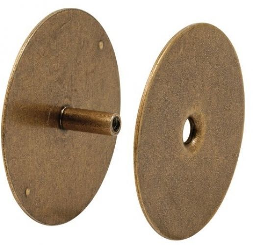 Antique Brass Door Hole Cover Plate 2.5/8 Inch Tool Hardware Kits Security  Knob