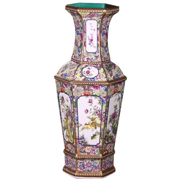 Photo of Ancient Classical Floral Floor Flower Vase