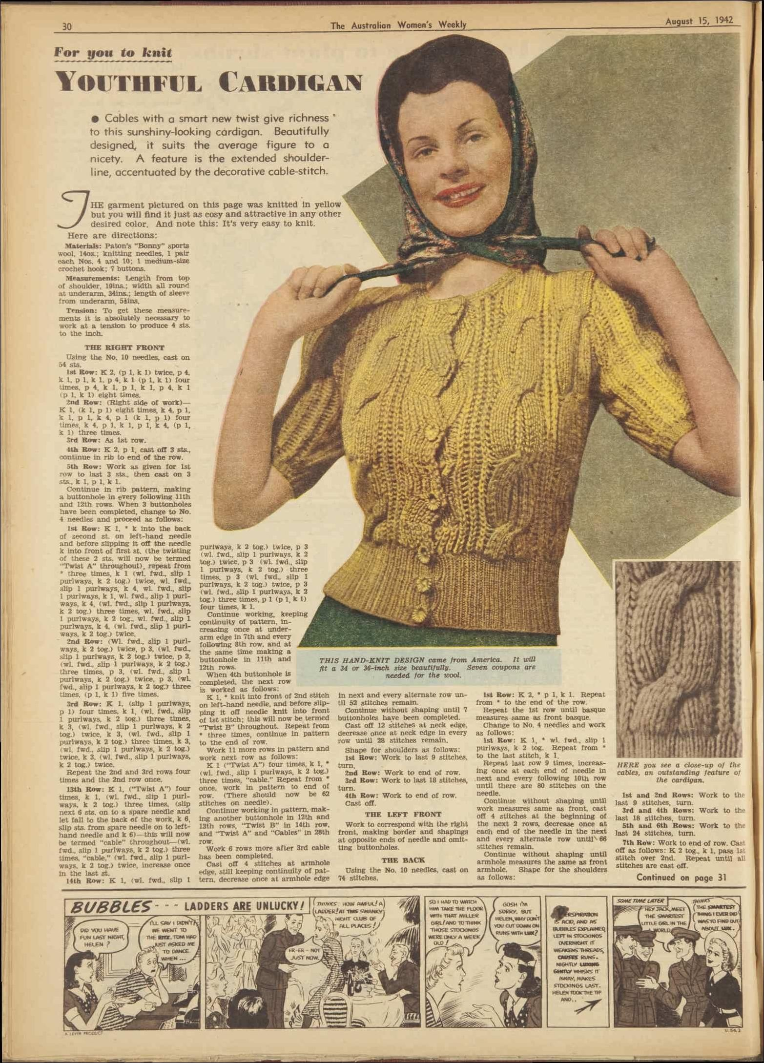 Issue: 15 Aug 1942 - The Australian Women's Wee...