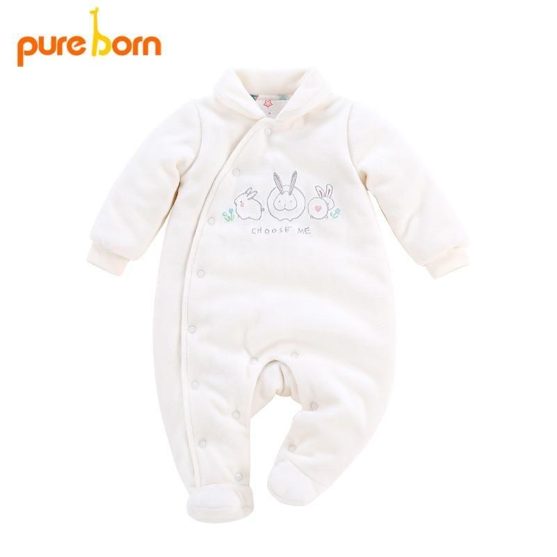 b90162845bc0 Pureborn Baby Footie for Newborns Winter Warm Thick Baby Girl boy ...