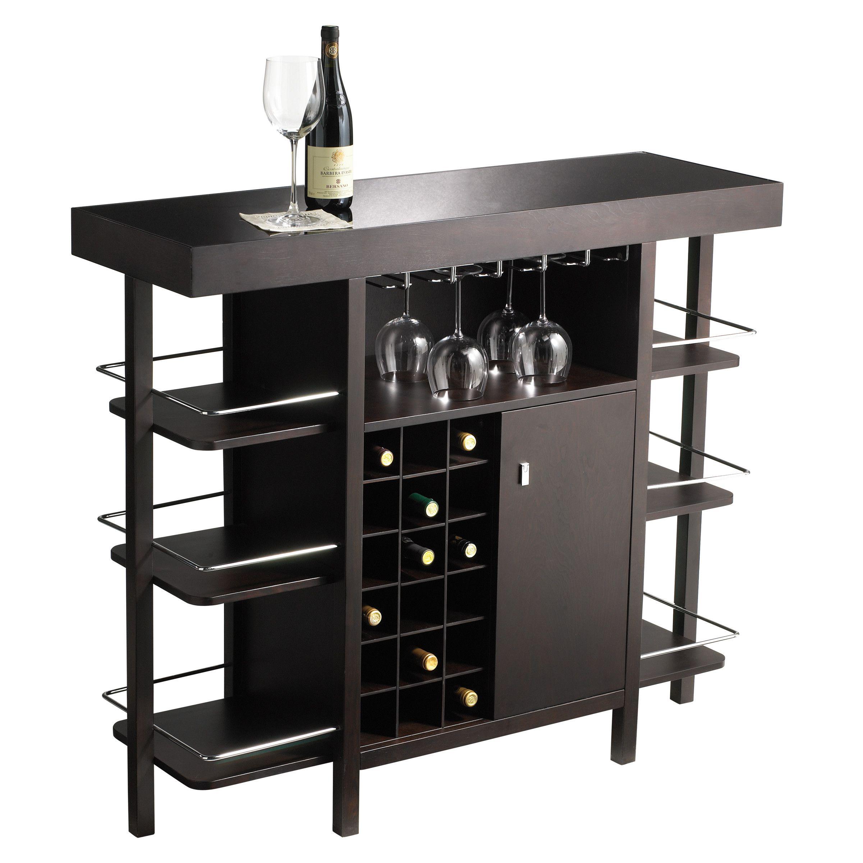 Sunpan Modern Ikon Philmore Drinks Bar With Wine Storage