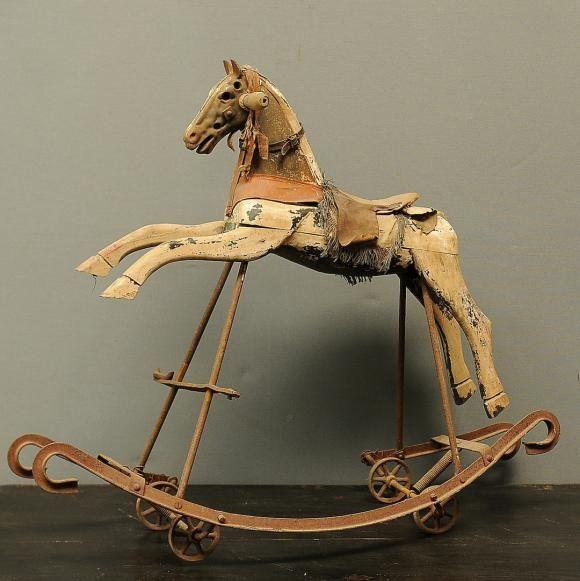 antique rocking horse antiques vintage primitives pinterest rocking horses. Black Bedroom Furniture Sets. Home Design Ideas
