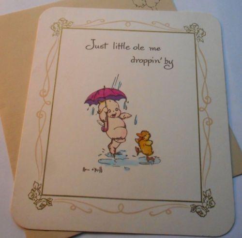 Vintage Unused Kewpie American Greetings Birthday Card Envelope