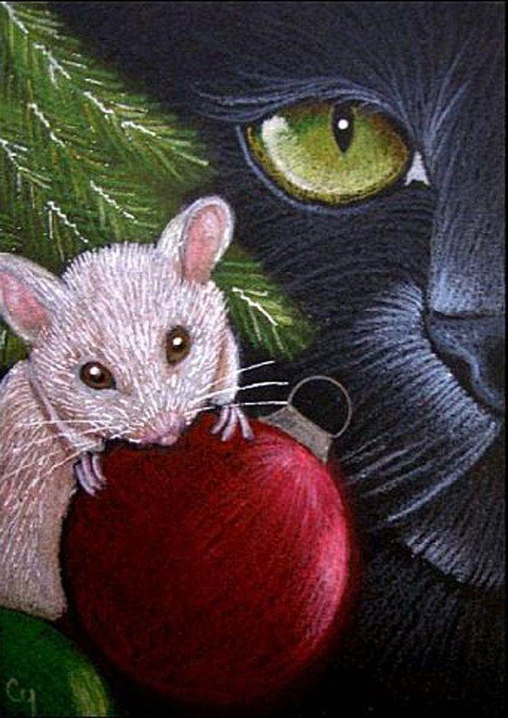 """Black Cat - Holiday"" par Cyra R. Cancel"