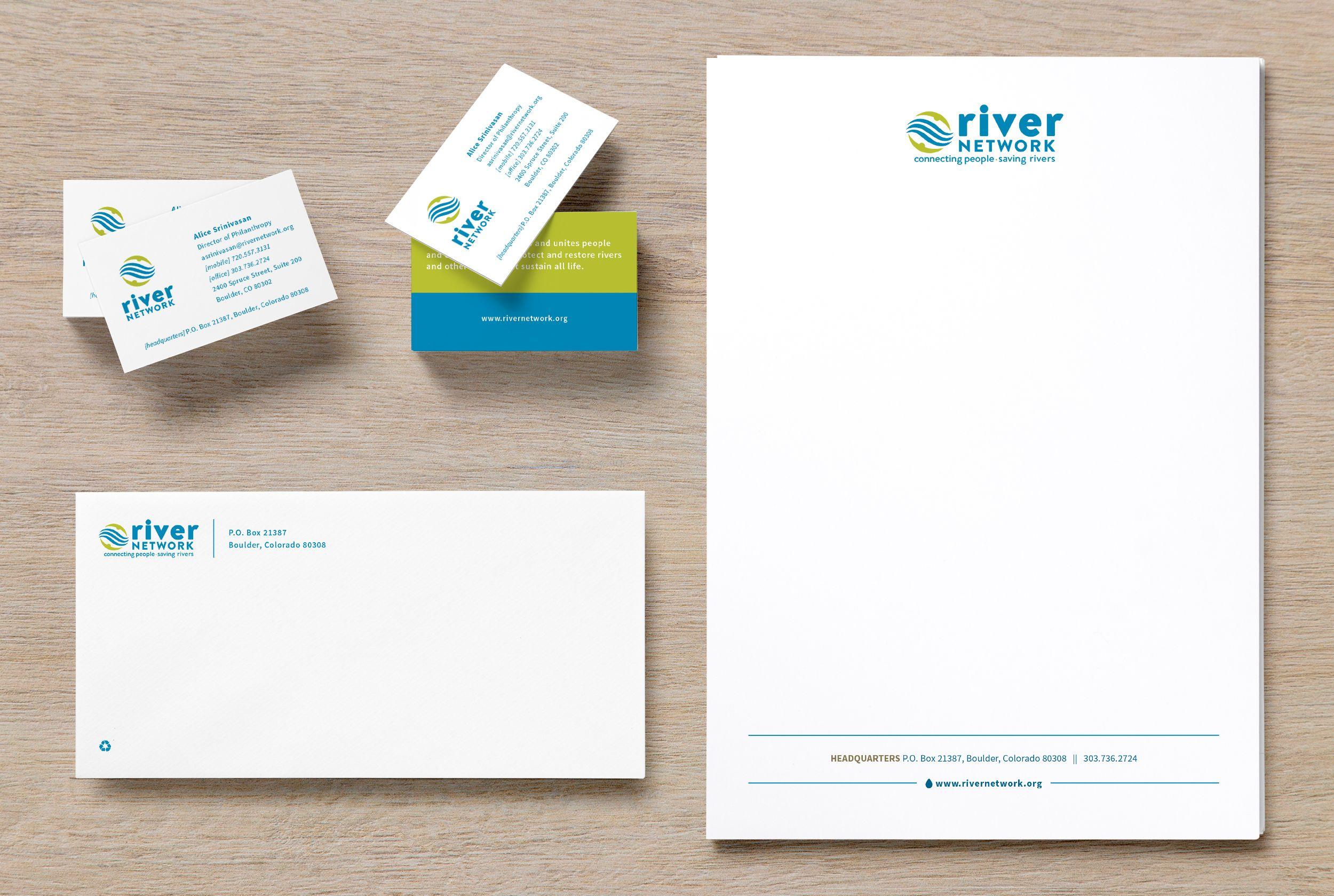 River Network Branding Suite Stationery Letterhead Business