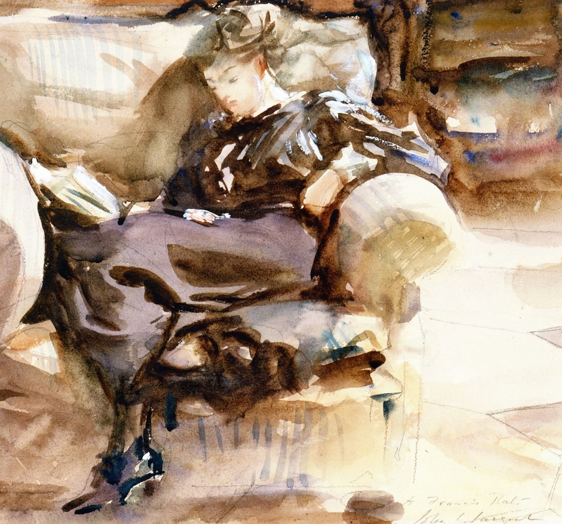 Watercolor art history - John Singer Sargent 1911 1912 Impressionism Painting Watercolour Over