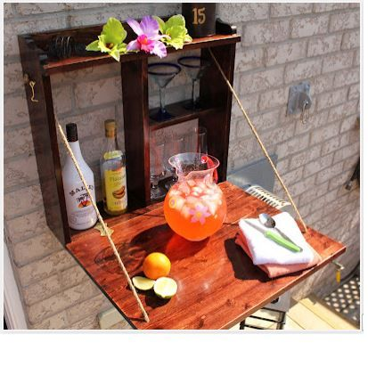 A Compact, Fold-Down Bar For The Back Yard Deck Decorative Soul
