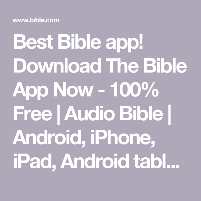 Best Bible app! Download The Bible App Now - 100% Free | Audio Bible