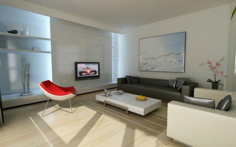 sala de estar moderna y minimalista