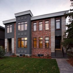 Executive Calgary Semi-detached - modern - exterior - calgary - Stephens Fine Homes Ltd
