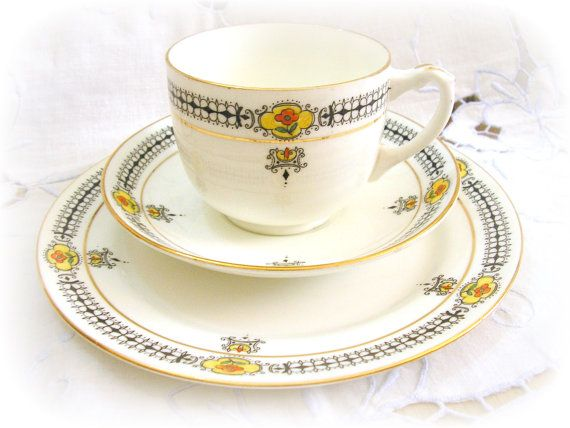 1920s Paragon China Trio Tea Cup and Plate Hand by TeaWithKitty ...