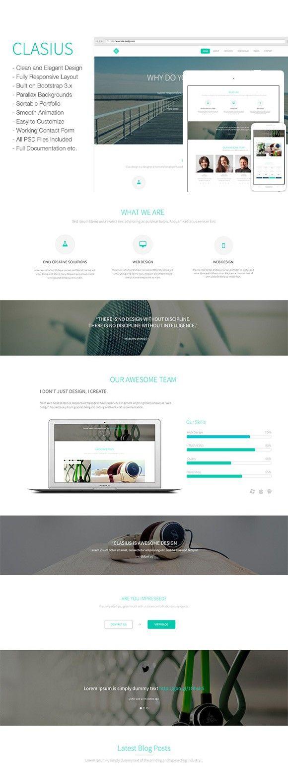 Clasius Creative Agency Portfolio Bootstrap Templates 13 00