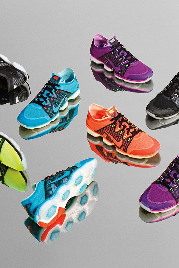 Add fancy to your workout in bright new shades of the Nike Zoom Fit Agility 2 high intensity training shoe.