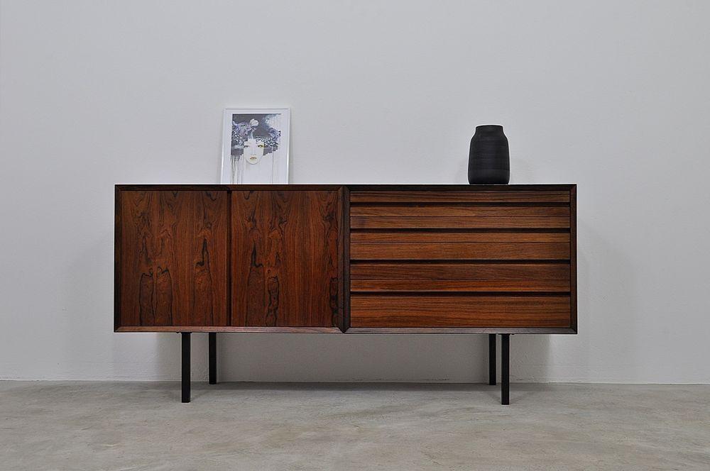 50er 60er palisander sideboard by cadovius kommode cabinet. Black Bedroom Furniture Sets. Home Design Ideas