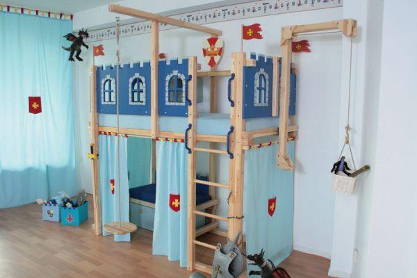 Hochbett Ritterburg Kinder Zimmer Loft Betten Und