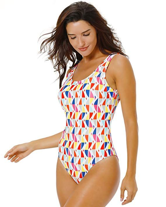 ff686017e4fa2 Funnygirl Women's Sexy Retro One Piece Swimsuit High Cut Backless Beach  Swimwear Bathing Suit at Amazon Women's Clothing store: