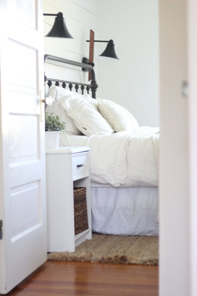 A Farmhouse Bedroom Makeover Part 4 Lamps And Nightstands Delectable Farmhouse Style Bedroom Inspiration