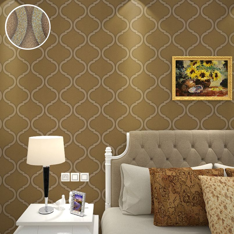 (Buy here: http://appdeal.ru/f7l ) Modern Living Room Wallpaper Glitter Gold Stripe Roll PVC Vinyl Trellis Textured Faux Leather Wall Paper Home Decor Brown,Cream for just US $34.00
