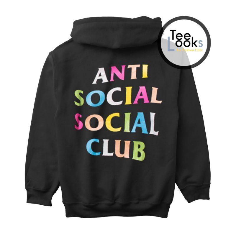 Anti Social Club Assc Multicolor Back Hoodie Anti Social Hoodies Social Club
