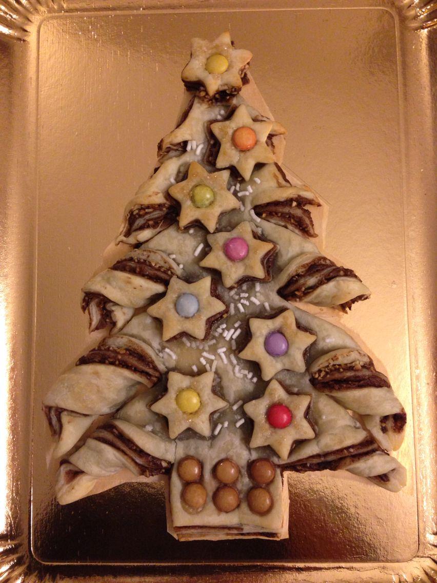 Dolce Di Natale Albero.Idea Per Il Dolce Di Natale Albero Di Pasta Sfoglia Nutella E